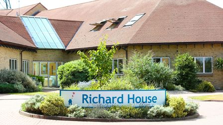 The front of Richard House Children's Hospice in sunshine