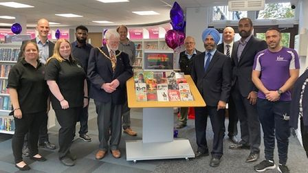Council leaders and Vision staff at the re-opening of Woodford Green Library and Gym