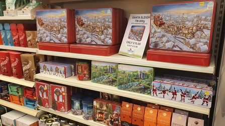 They have a large selection of christmas snacks.