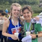 Sarah Halliday (right) anddaughter Hannah Dickinson ran the Eden Marathon at the Eden Project in Cornwall.
