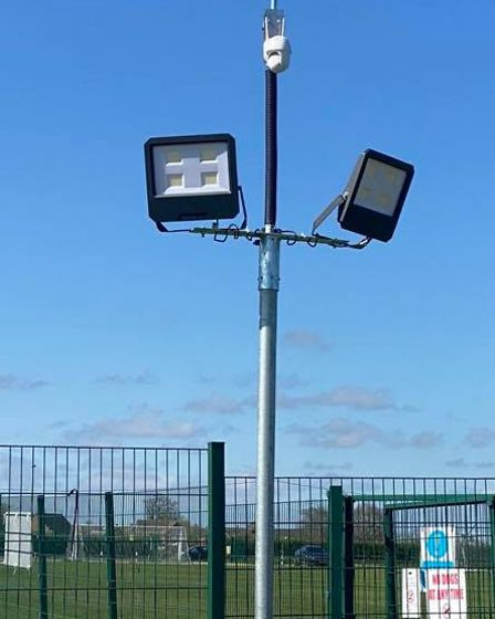 New floodlights have been installed at Lavare Park, home of Old Catton Junior Football Club
