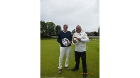 Nailsea & District CroquetAC winnerMike Akin-Smith and runner-up Paul Arbos.