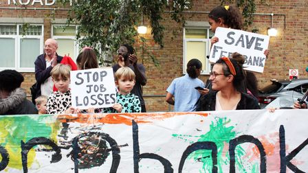 Parents, children and the local community got together to protest a proposal to close down two Hackney children's centres.