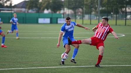 Frenford in action against Ipswich Wanderers