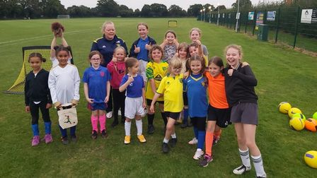 There has been a rise in girls playing football in Old Catton thanks to the Wildcats