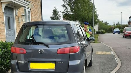 Cambridgeshire Police are cracking down on parking in Godmanchester.