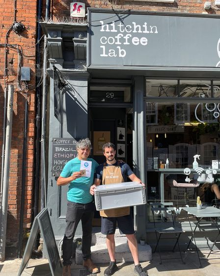"""Mehmet Ozdil, Hitchin Coffee Lab's founder, said their primary goal is to provide a """"greener solution"""""""