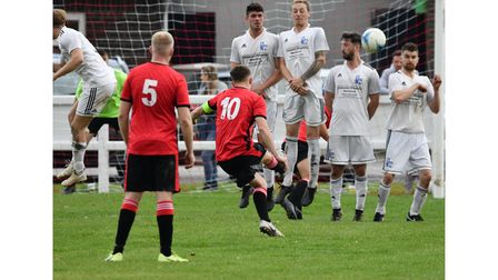 Clevedon United's Jack Throne equalised for the hosts from a free-kick.