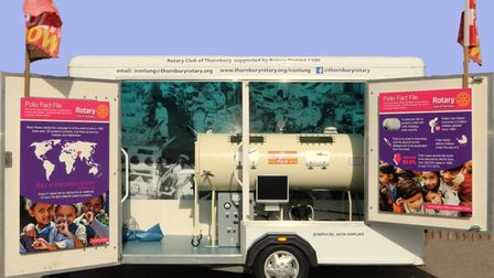 An iron lung will be on display at the exhibition.