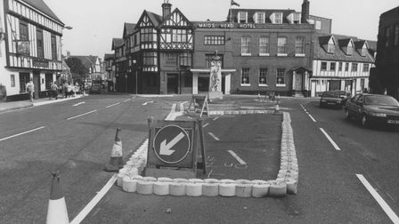Norwich Streets -- TTombland looking towards the Maids Head HotelDated -- 29 August 1990