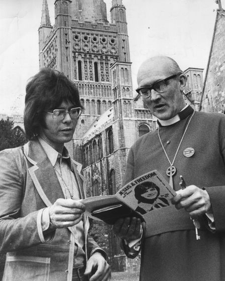 Cliff Richard visits Norwich Cathedral. Date: 2 June1972.