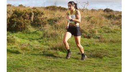Jo Gallagher in action during the Mendip Muddle, a 20k multi-terrain race.