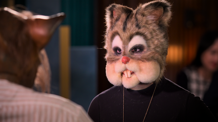 Chipmunk in ascene from episode 4of the second series of Sexy Beasts on Netflix.