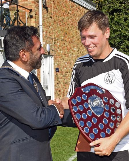 The Derek Clifton memorial trophy was handed to the winning team.