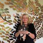 Sue Charalambous by the Memory Tree