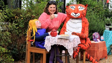 The Tiger Who Came to Tea display at Foxton Scarecrow Festival