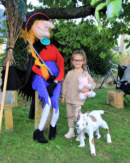 Room on the Broom was the winning display at Foxton Scarecrow Festival
