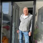 """Unhappy resident,Kenneth Holdworth, 75, says Globe Road is an """"accident waiting to happen""""."""