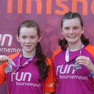 Lauren and Hannah Carr finished eighth and tenth female in the Supersonic 5K