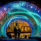Norwich at Christmas 2017, The Tunnel of Light. Photo credit ©Simon Finlay Photography.