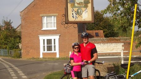 Brenda andTerry Barnes enjoyed cycling before last year' accident, which left Mrs barnes with a broken leg.