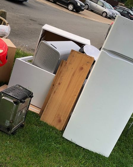 The latest in fly-tipping spates in Norfolk Road, Huntingdon.