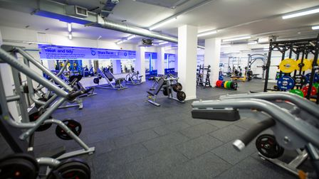 The free weight area at The Gym off Caledonian Road.