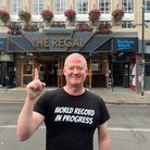 Matt Ellis has completed a '24 hour pub crawl' in order to set a new world record.