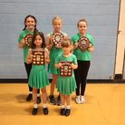 The Hot Steps Dance Academy pupils were presented with their achievement shields at a fundraising event in Royston
