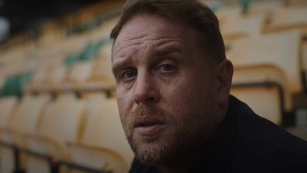 Former Norwich City player Cedric Anselin in 'Reach Out' film for the Wellbeing Service in Norfolk a