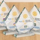 Trophies for the East London community heroes awards winners. Picture: Rotary Club of Stratford