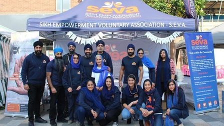 Volunteers from the Sikh Empowerment Voluntary Association were out in Ilford Town Centre on Saturday.