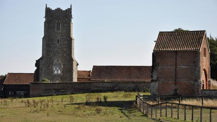St Mary's Letheringham and the remains of the Augustinian Abbey.