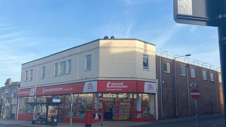 Two girls on top of Poundstretcher