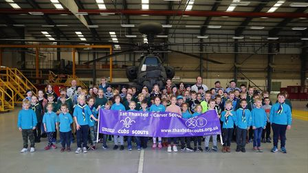 More than 100 scouts from Thaxted went to Wattisham, Suffolk