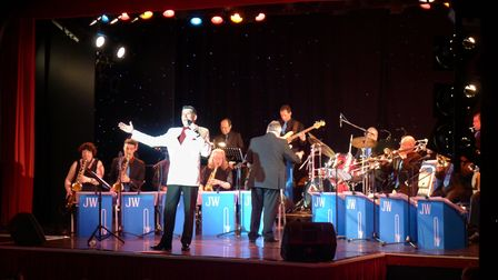 Olly Day and the Jonathan Wyatt Big Band in full flow. Picture: Courtesy of Olly Day