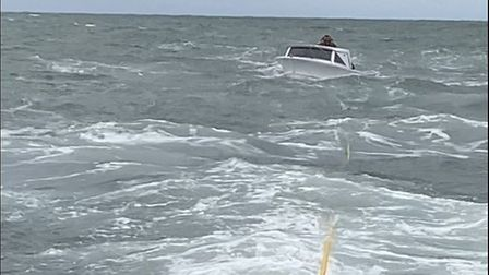 Caister lifeboat crew's four hour rescue after boat's engine failure.