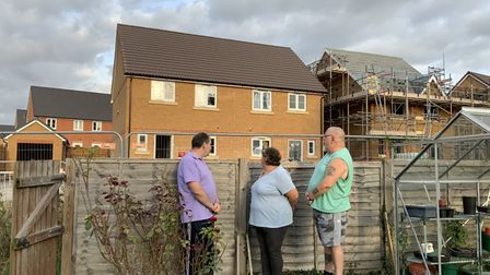 Hawthorn Wayresidents say the new homes being built at the back of their property in Royston