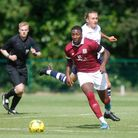 Devonte Aransibia was credited with Potters Bar Town's second goal against East Thurrock United.