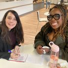 Laura Bill meets Arena panto starChizzy Akudolu.