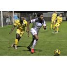 Prince Henry in action for Weston during their match with Yate Town on Tuesday.