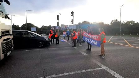 Insulate Britain protestors returned to the M25 this morning