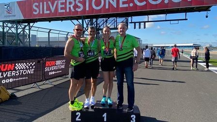 Alicia Gray, PatrickThoeung, Andy Page and Jonny Le Roux all took part in the Silverstone Half Marathon