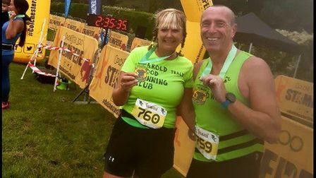 Tracy and Brynley Giddings ran the Colchester Stampeded Half Marathon