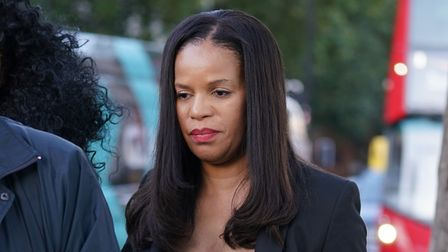 MP for Leicester East Claudia Webbe leaves Westminster Magistrates Court, London, where was charged with harassment