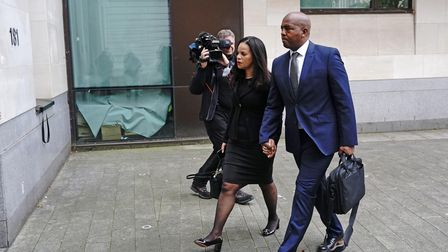 Leicester East MP Claudia Webbe at Westminster Magistrates Court, where she appeared charged with harassment