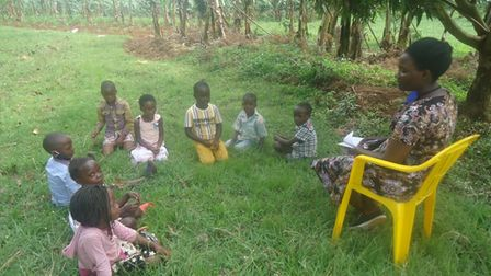 Remote learning in Uganda due to Covid.