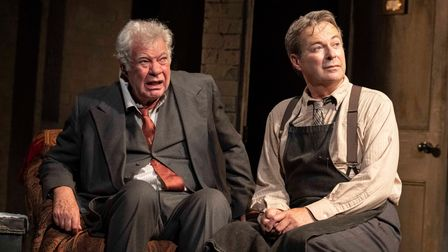 Matthew Kelly as Sir and Julian Clary as Norman in The Dresser.