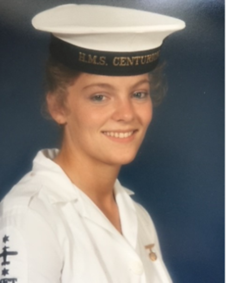 Diana Keyzor, who lives in Eaton Rise, served for five years in the Women's Royal Naval Service in 1986