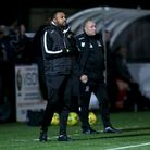 Romford manager Derek Duncan during Romford vs Tilbury, Pitching In Isthmian League North Division F